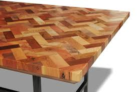 spectacular chevron reclaimed wood coffee table top with black