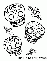 Coloring For Kids Sugar Skull Pages Free In Page Az