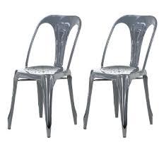 chaise en m tal captivant chaise en m tal lot de 2 chaises industrielles grise metal