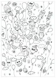 Coloring Page Of A PARTY Doodle
