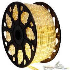 120V Dimmable LED Warm White Rope Light 150 Kit Modern