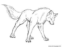 Angry Wolf S Print Coloring Pages