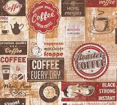 tapete kaffee küche vintage rotbraun 33480 1