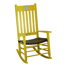 Hinkle Chair Company Hinkle Nascar Rockers Yellow/Brown Rocking ... Innovative Rocking Chair Design With A Modular Seat Metal Frame Usa 1991 Objects Collection Of Cooper Hewitt Horse Plush Animal On Wooden Rockers With Belt Baby Glider Fresh Tar New Nursery Coaster Transitional In Black Finish Value Hand Painted Rocking Chairs Childs Rockers Hand Etsy Outdoor Wicker Legacy White Modern Marlon Eurway Gloucester Rocker Thos Moser Fniture Gliders Regarding Gliding Replica Eames Green Chrome Base Beech Valise Plowhearth