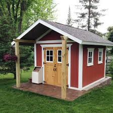 12x16 Wood Shed Material List by How To Build A Shed With A Front Porch Family Handyman