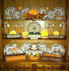 My Hutch Decorated For Fall With The Help Of QVCs Temptations Bakeware And Valerie Par