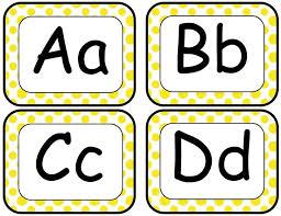 Word Wall Letters Stunning Classroom Freebies Too Yellow 2018