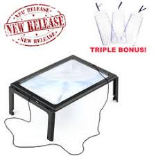 Lighted Full Page Magnifier Lamp by Lighted Magnifying Glass With Stand
