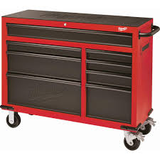 Milwaukee 46 In. 8-Drawer Roller Cabinet Tool Chest In Red And Black ...