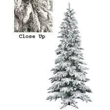 9 Slim Christmas Tree Prelit by Exquisite Decoration 9 Slim Christmas Tree Classic Flocked Pre Lit