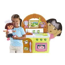 my family fun dora talking kitchen with exclusive chef dora doll