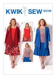kwik sew 4199 women u0027s draped jacket tank top and gored skirt