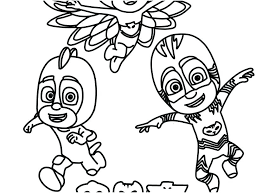 Pj Masks Coloring Pages Free Printable Mask Shoot Page