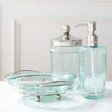 Purple Crackle Glass Bathroom Accessories by Bathroom Decor U0026 Accessories Pier 1 Imports