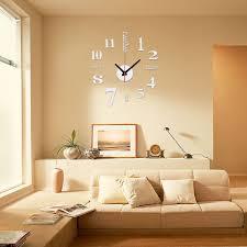 3D DIY Wall Clock Mini Modern Sticker Design Livingroom Home Office Room