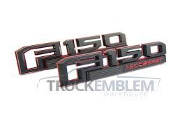100 Ford Truck Emblems Emblem Warehouse 2 New Custom Black RED 20152017 F150