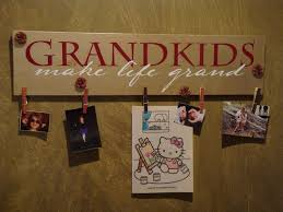 Grandkids Make Life Grand Grandparents Gifts For Mom Grandma Wood