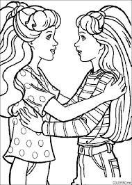 Barbie Coloring Pages And Friends