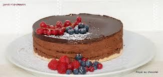 saveurs et gourmandises royal chocolat au glaçage brillant au