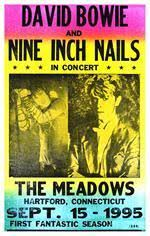 David Bowie And Nine Inch Nails Concert Poster