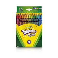 Crayola Bathtub Crayons 18 Vibrant Colors by Crayola 30 Count Twistable Colored Pencils Walmart Com