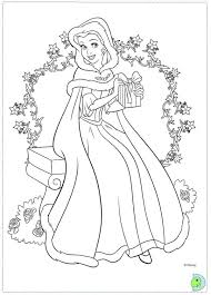 Christmas Disney Princess Coloring Pages