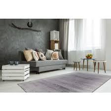 kurzflor teppich grau silber weiß wohnzimmer schlafzimmer weich 80x150cm