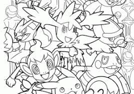 Anime Cat Girl Coloring Pages Download All Pokemon For Kids Printable Free