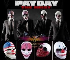 Payday 2 Halloween Masks Disappear by Payday 2 Resin Mask Four Unique Dallas Chains Wolf Hoxton Heist