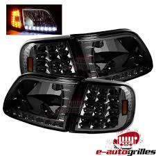 97-03 Ford F150+97-99 F250 Smoke Lens Chrome Crystal Head Lights+LED ... Custom Toyota Tundra Trucks Near Raleigh And Durham Nc Led Freightliner Centurycolumbia Side Marker Signal Light With Chrome Truck Bumpers Sr Parts Inc Youtube Semi Truck 142 Full Fender Boss Style Stainless Steel Raneys Spencers Parts Service Show Hlights Trux Front Rear Hub Cap Plastic Abs Nut Cover Kit Hess Special Edition 2006 Nyse Brad Keselowski 2016 Alliance Parts 124 Color Nascar Bug Shields For Peterbilt Kenworth Volvo Accsories Pickup Lovely 1 2 Ton Jim Carter