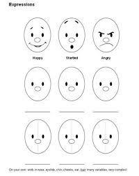 Facial Expressions For Preschooler Expression Colouring Pages