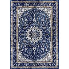 Djemila Medallion Blue Vintage Persian Floral Oriental Area Rug 5 X 7 53 73 Distressed Modern Thick Soft Plush