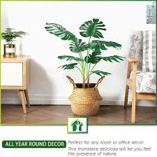 crosofmi artificial monstera deliciosa tree 95cm