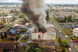 100 Timmons Truck Center Raging Fire Guts Armory Building In Aberdeen BothellKenmore Reporter