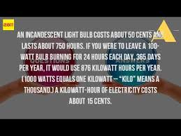 how much does it cost to run a light bulb for an hour