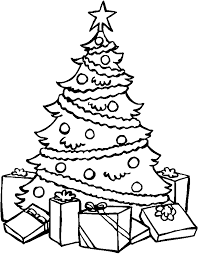 Detail Christmas Tree Coloring Page