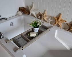 Bath Caddy With Reading Rack Uk by Wood Bath Caddy Etsy