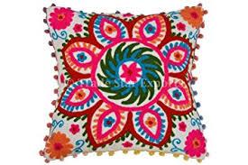 Amazon Pom Pom Pillow Cover Suzani Pillows 16x16 Outdoor