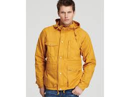 mens yellow rain coat down coat