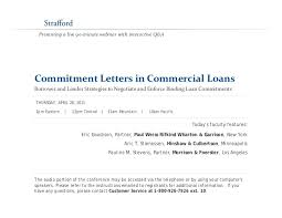 mitment Letters in mercial Loans Borrower and Lender Strategies…