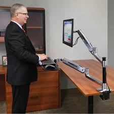 Lx Desk Mount Lcd Arm Amazon by 18 Dual Monitor Arms Desk Mount Workfit Lx Ergotron 45 405