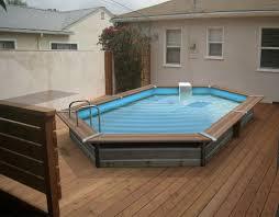 piscine en bois semi enterree pas cher kirafes