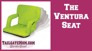 Deluxe Stadium Chair With Arms by Product Review And Demo The Ventura Seat By Picnic Time Youtube