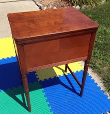 vintage empty sears 566 3431 kenmore rotary sewing machine cabinet