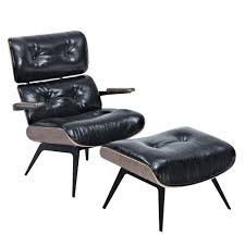 Earl Lounge Chair And Ottoman - EMFURN Eaze Living Room Chair Wood Lcw Painted Lexmod Eaze Lounge Chair In Black Leather And Dark Walnut Wood Modern Cheap And Interior Design Ideas Find The Best Savings On Faux Brown Palisander Home Design Ideas 20 Of White Womb Galleryeptune Surprise Fniture Houseware Molded Plywood Cad Plan Wooden Thing Chaise Chairs