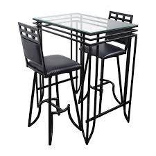 84% OFF - Counter High Glass Table With Two Chairs / Tables Grey Glass High Gloss Ding Table And 4 Chairs Set Bar Table And Two High Stool Chairs Modern Design Stock Photo 40 Excellent Two Seater Online Bistro With Stools Fniture Tables On Amelia Twotone Wood Barstools Room Ideas Ikea Small Top Round 84 Off Counter Garden In N21 Ldon For 4000 Sale Shpock With Home Design Modern Extension Tags Ding Bar