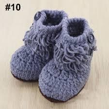 cute knit girls boys baby crochet casual shoes boots crib cartoon