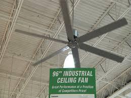 hunter 96 satin metal industrial hvls ceiling fan at menards
