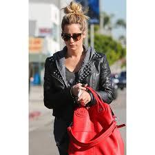ashley tisdale leather jacket womens studded black jacket