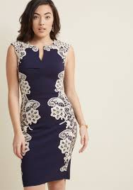 Lakeside Libations Sheath Dress In Navy